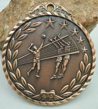 Volleyball MEDALS MEDALS school activities Customized metal MEDALS games gold medal game school Spot custom badges