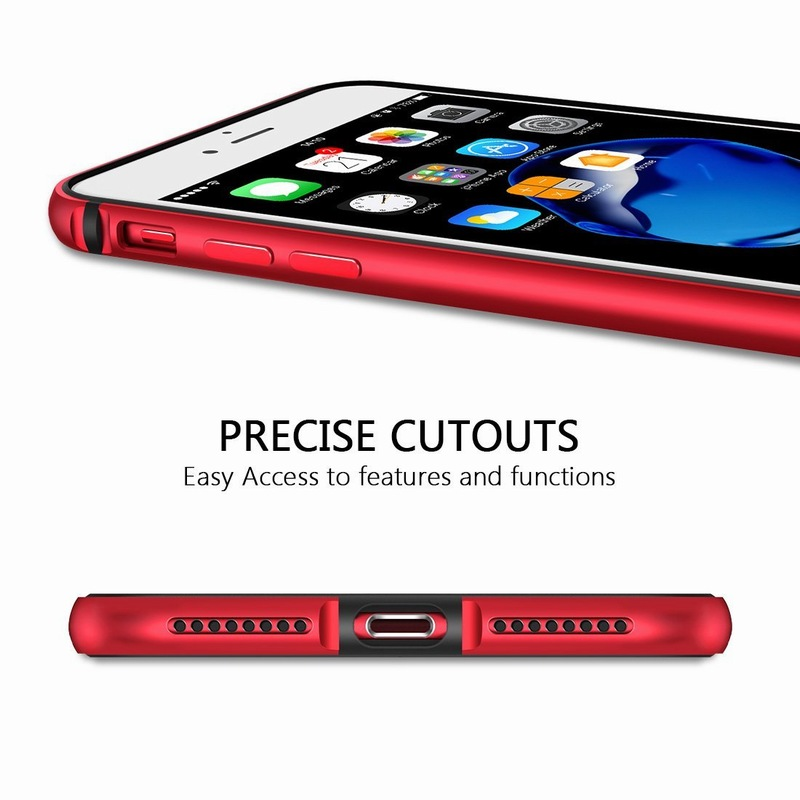 Ascromy For iPhone 8 Case Aluminum TPU Silicone Hybrid Shockproof Bumper Case for iPhone 7 Plus 8 8Plus 7Plus Metal Frame Coque (9)