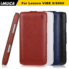 IMUCA Brand For lenovo s960 vibe x S968T S968T case High Quality PU Leather Flip Case Original retail package lenovo phone case(China)