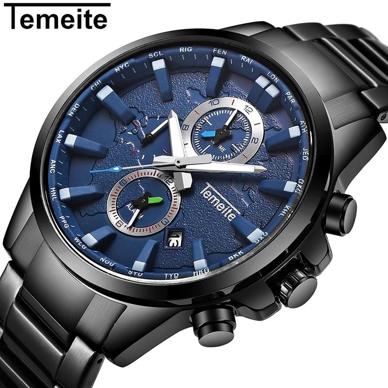 2017 NEW Mens Watches Top Brand Luxury Men Quartz Watch Man Full Steel Multifunction Date Fashion Sport Clock Relogio Masculino<br>