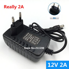 12V2A AC 100V-240V Converter Adapter DC 12V 2A 2000mA Power Supply EU Plug 5.5mm x 2.1-2.5mm for LED CCTV