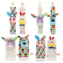 2 Pcs Set Infant Lovely stuffed Animals Wrist Rattle Cloth Sock Funny Delvelopmental three-dimensional Toy Mobile Phone Case(China)