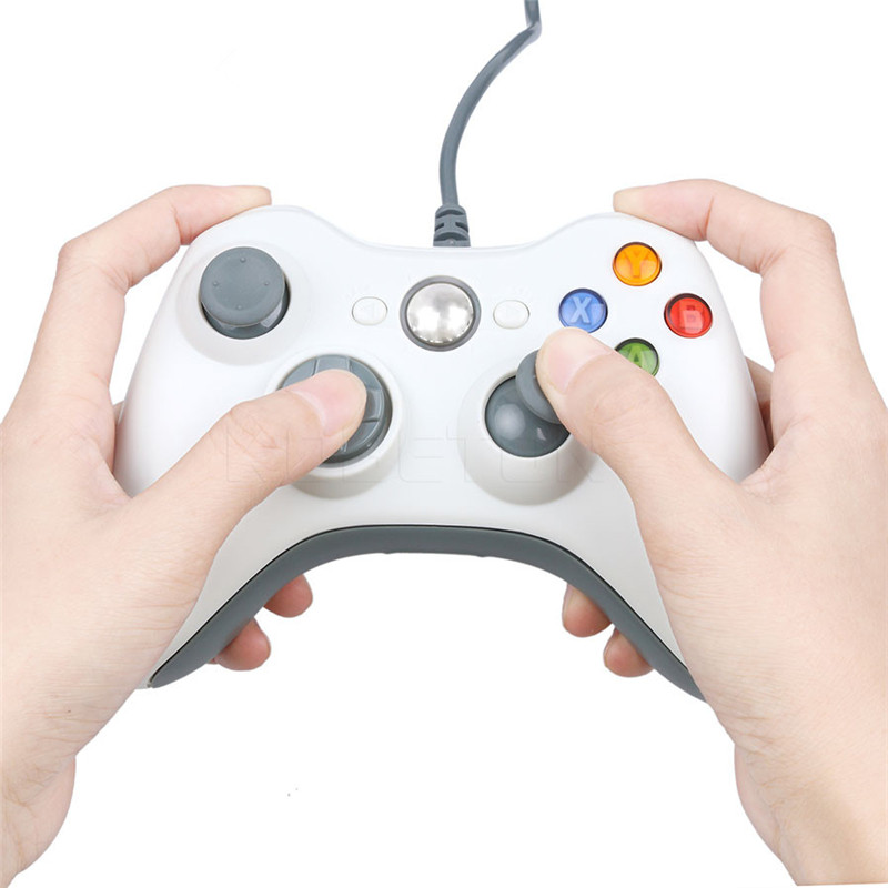 Kebidu-Hot-Newest-1pcs-USB-Wired-Joypad-Gamepad-white-Controller-For-Microsoft-for-PC-for-Windows -