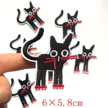 Cute Friendly Pet Cat Kitty Kitten Embroidered Iron On Applique Patch Fabric Badge Garment DIY Apparel Accessories