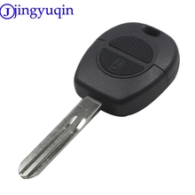 jingyuqin 2 Button Remote Flip Fob Car Key Shell For Nissan Micra Almera Primera X-Trail Replacement Uncut Blade Case Cover