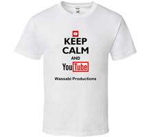 Top Quality 2017 New Brand Men's Wassabi Productions Youtuber Keep Calm And Youtube