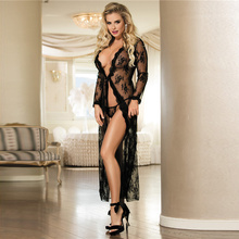 Buy Women Plus Size Black Delicate Lace Gown Wedding Lingerie Produtos Eroticos Sex Wear Babydoll Fantasias Sexy Erotic GY80232