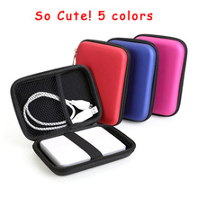 "Stock Lot # Portable 2.5"" External USB Hard Drive Disk Carry Case Cover Pouch Bag for PC Laptop case for external hard drive(China)"