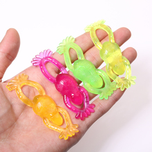 10pcs Novelty Squishy Frog Kids Funny Party Game Favor Shooting Frog Birthday Gift For Autism/ADHD Stress Relief Pinata Filler(China)