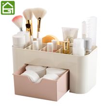 Cosmetic Jewelry Organizer Office Storage Drawer Desk Makeup Case Plastic Makeup Brush Box Lipstick Remote Control Holder(China)