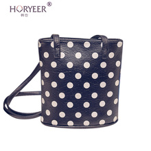 HORYEER  famous brands handbags women Female small bags pu leather vintage shoulder messenger crossbody bag polka dot bags sac