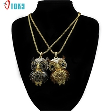 OTOKY Gussy Life New Fashion Crystal Owl Vintage Necklace Charm Pendant Long Chain Mar8