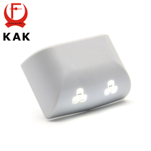 3PCS KAK Universal 0.25W Inner Hinge Six LED Sensor Light For Kitchen Bedroom Living Room Cabinet Cupboard Wardrobe Hardware