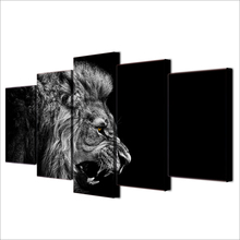 HD Printed lion white black Painting Canvas Print room decor print poster picture canvas Free shipping/ee-4584