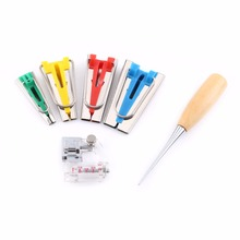 Buy 6pcs/set Hand Bias Tape Maker Kit 6/12/18/25mm Binding Tool Guide Strip Sewing Quilting Tools Set for $7.44 in AliExpress store