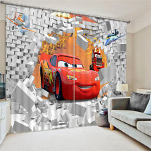 Modern Luxury red car 3D Blackout Window Curtains For kids Bedding room Living room Hotel Drapes Cortinas(China)