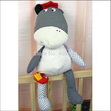 new arrival soft Plush Smooth cattle cow  toy Baby Sleep Calm Doll with a musical bird