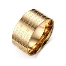 2017  New listing   Male and female transfer ring   titanium steel   Religious ornaments ring   party trendy   Golden  R-150