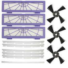 13 Pieces Filters Side Brushes Blade Squeegee Replacement Pack for Neato BotVac 70e,75,80,85 Robotic beater brush