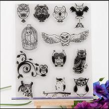 Special offer ON SALE Scrapbook DIY photo cards account rubber stamp clear stamp transparent stamp various night owl 14x18cm