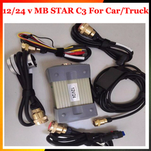 12/24v DHl Free Shipping MB STAR C3 OBD2 Scanner MB STAR C3 for Mercedes Benz car truck diagnostic tool without HDD software(China)