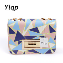 2017 Printed Triangle Fashion Women Hand Bag Chain Crossbody Shoulder Bags Women Messenger Bags bolsa feminina sac a main