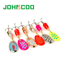 JOHNCOO New Spinner Bait Metal Lake Lure 6pcs Fishing Lure 5g/8g/10g/13g Mixed Weight/Color Artificial Fish Bass Fishing Tackle(China)