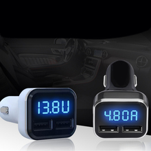 4.8A LED Display Dual USB Car Charger Adapter Mobile Phone Car Chager for iPhone Samsung Mobile Phone Car Charger