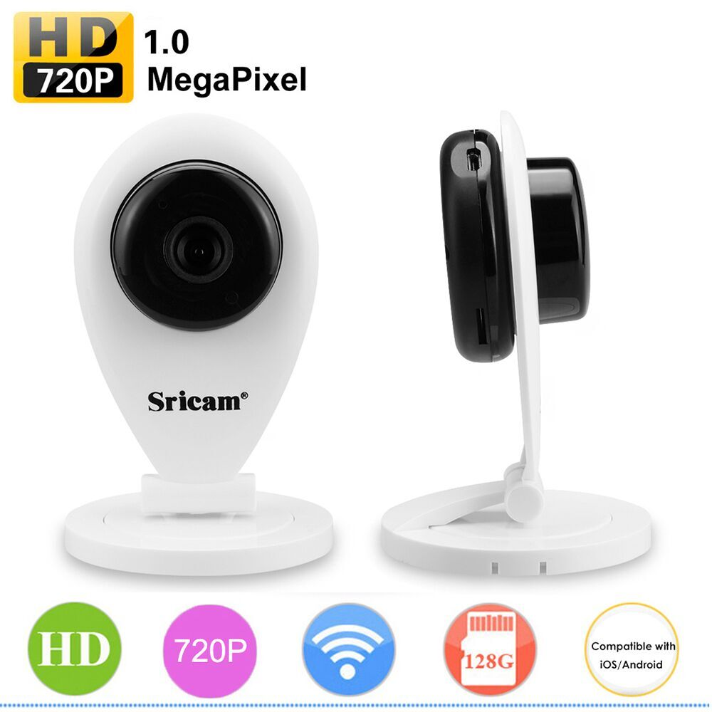Original Sricam ip camera HD 720P WI-FI P2P Mini Baby Monitor Smart Onvif Motion Detection CCTV Security Wireless WIFI IP Camera<br>