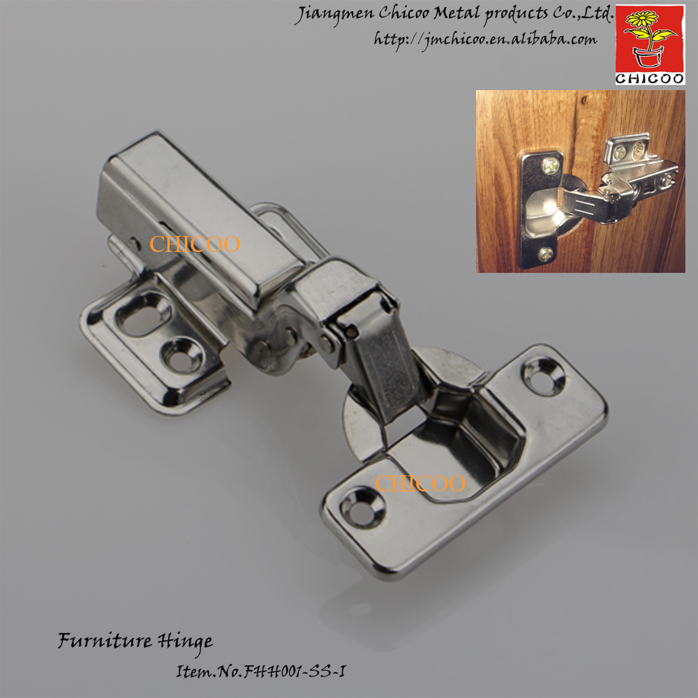 door Hinge Stainless steel 304 Embed Hydraulic furniture hinge conceal adjustable inset kitchen cabinet hinges(China)
