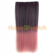 60cm gradient style Ladies Gorgeous Long Straight Hair Extension (NWG0HE60731-QLL)