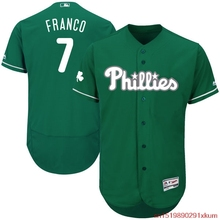 MLB Men's Philadelphia Phillies Maikel Franco Baseball Green Celtic Flexbase Authentic Collection Player Jersey(China)