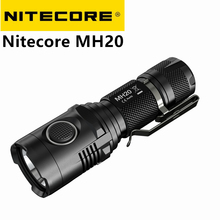 USB Rechargeable Nitecore MH20 MH20W Portable Flashlight Cree XM-L2 1000 Lumens Smallest Lightest 1* 18650 Camping Hand Light