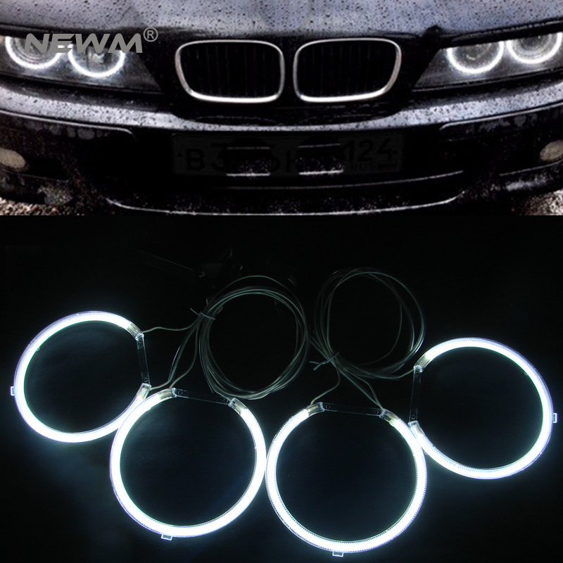 E39 OEM ccfl angel eyes ring kit car auto ccfl halo ring bulb for bmw e39 ring headlight 127mm white blue yellow<br>
