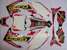 2010 2011 CRF250R 2012 2013 motorcycle motocross graphics kit DECALS stickers for honda moto dirt pit bike CRF 250R 250 parts(China)