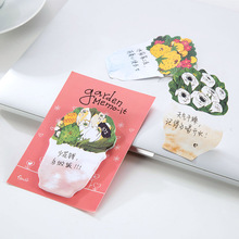 1 Pcs Cute Kawaii Romantic Flower Garden Paper Memo Pad Post It Note Sticky For Kids Creative Gift Korean Scrapbook Stationery