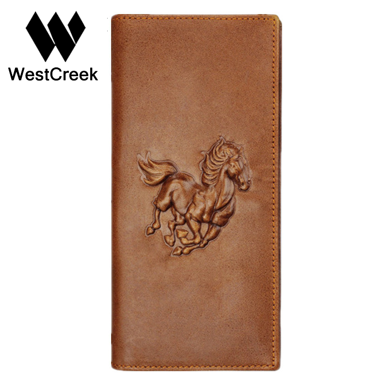 Unique Design Crazy Horse pattern Brown Genuine Leather Mens Wallet Long with Short by GMW003<br><br>Aliexpress