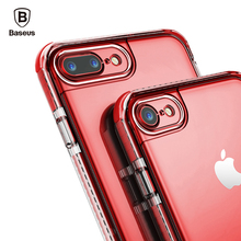 Baseus For iPhone 7 Case Luxury Hard PC TPU Hybrid Armor Case For iPhone 7 7 Plus Cover Ultra Thin Anti Knock Phone Accessories(China)