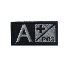 3d PVC Tactical Badge A/B/O/Ab+ Blood Type Morale Badge Military Tactical Rubber Badges For Cap Jacket