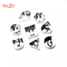 Nice Food Grade 304 Stainless Steel Mousse Cake Ring Mold Layer Slicer Cook Cutter Bake Dessert Shape Mold Chocolate Accessories(China)