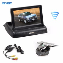 Buy DIYKIT Wireless 4.3 Inch Car Reversing Camera Kit Back Car Monitor LCD Display HD Security Metal Car Rear View Camera for $36.31 in AliExpress store