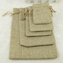 100pieces/lot Free shipping 15*20cm high-grade brown jute bag jewelry bags / jewelry box wholesale(China)