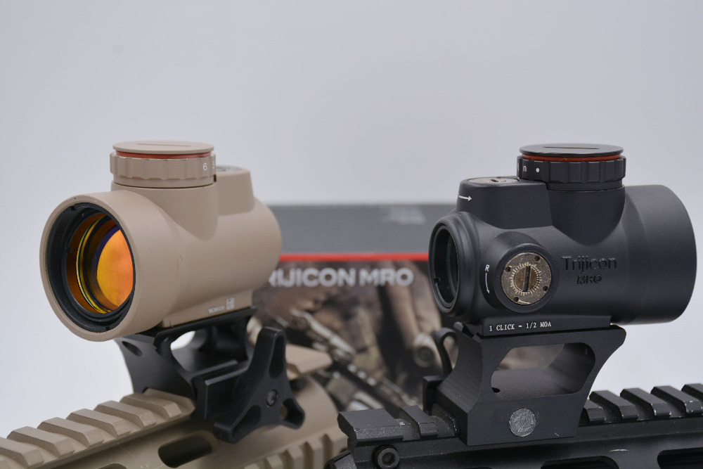 Free shipping Black &amp; TAN Trijicon MRO style red dot sight holographic sight airsoft black low mount trijicon &amp; QD red dot sight<br><br>Aliexpress
