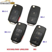 (2pcs) KEYDIY URG200/KD900/KD200 Remote Key Original B5 Type 2 Button 3 Buttong Remote Key for VW Folding Key Maker