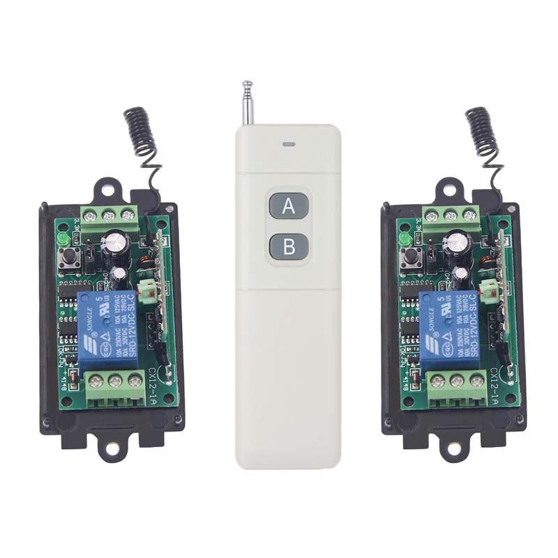 3000m DC 9V 12V 24V 1 CH 1CH RF Wireless Remote Control Switch System,315/433 2CH Transmitter + 2 X Receiver,Momentary Toggle L<br><br>Aliexpress