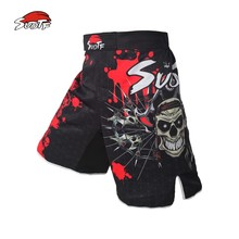 MMA Red Skull Pirate fitness boxing workout breathable pants Tiger Muay Thai MMA pants cheap boxeo boxing shorts kickboxing