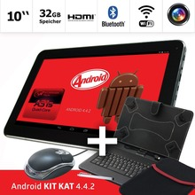 Android mid  10.1 inch  Zoll Tablets PC Android 4.4.2 - 32GB Quad Core Bluetooth - 2xMicro USB keyboard cover  and Mouse set