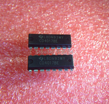 Free shipping 50PCS CD4017 CD4017B CD4017BE 4017 DECADE COUNTER DIVIDER IC Best quality
