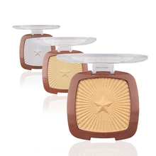 LEARNEVER 1pc High Light Trim Powder Shimmer Contour Powder High Lighter Waterpoof Lasting High Light Cosmetic Makeup Women(China)