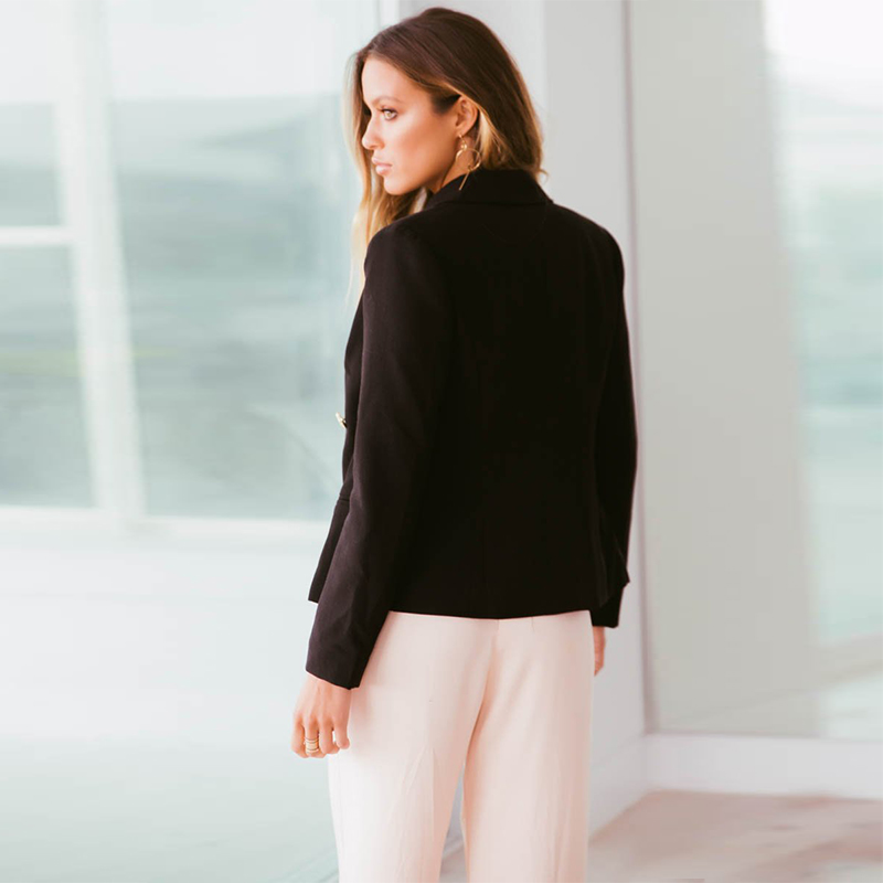 2018 Ladies Blazer Long Sleeve Blaser Women Suit jacket Female Feminine  Blazer Femme Pink Blue White Black Blazer Autumn  fd31f2255e09